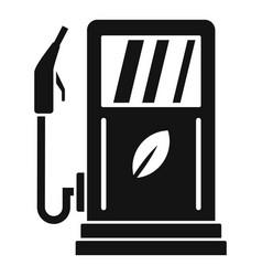 bio fuel station icon simple style vector image