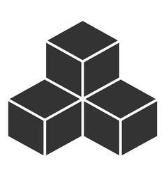 Black cubes on white background vector