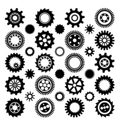 Black gear wheels vector