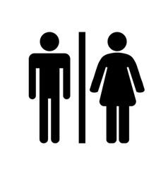 black toilet icon on white background vector image