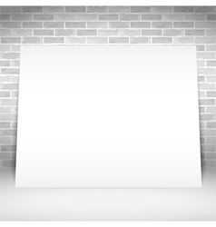 Blank White Poster vector image
