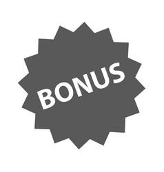 bonus sign icon simple vector image