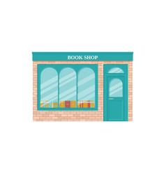 Book shop storefront vintage store front vector