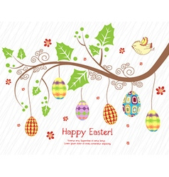 Branch with eggs vector