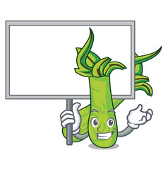 Bring board wasabi character cartoon style vector