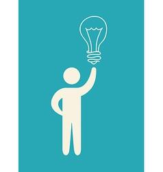 bulb idea design vector image