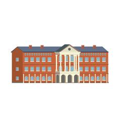 campus university building college institution vector image