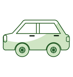 Car sedan isolated icon vector