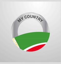 Chechen republic my country flag badge vector
