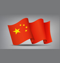china waving flag icon isolated official symbol vector image