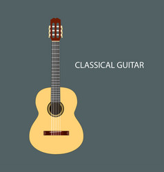 Classical guitar isolated vector