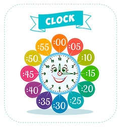 Clock sticker game for children vector image
