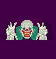 clown halloween costume clown flat design vector image