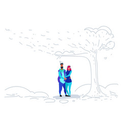 couple in love happy valentines day concept young vector image