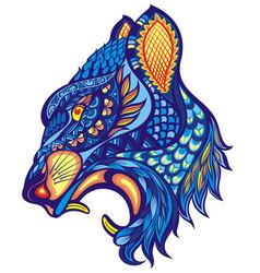 Decorative animal portrait vector