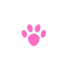 dog footprint animal logo vector image