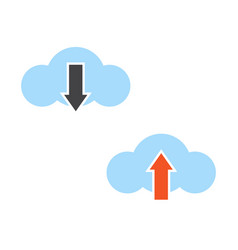 download and upload cloud icon vector image