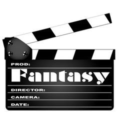 fantasy movie clapperboard vector image vector image