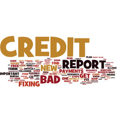 Fix bad credit in easy steps text background word vector
