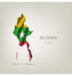 Flag burma as a country vector