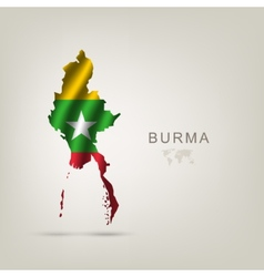 flag of Burma as a country vector image