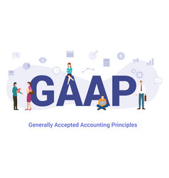 Gaap generally accepted accounting principles vector
