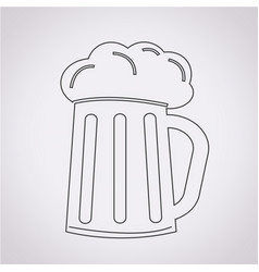 Glass beer icon vector