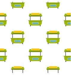 Green street kiosk pattern seamless vector