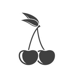 icon cherry on white vector image