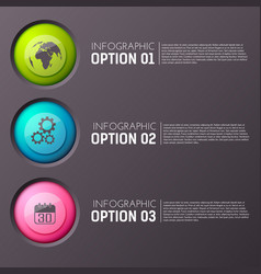 infographic option buttons background vector image