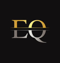 initial eq letter linked logo business template vector image