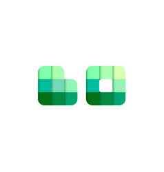 initial letters bo bo pixel brick logo design vector image
