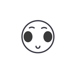 japanese open eyes emoji concept line editable vector image