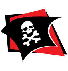 jolly roger pirates flag vector image