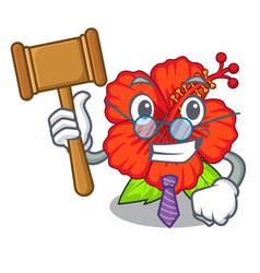 Judge hambiscus flower in the mascot stem vector