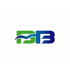 Letter B and D logo vector image