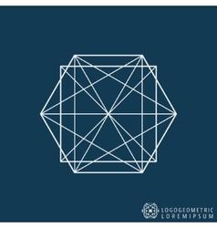 Logo line template vector image