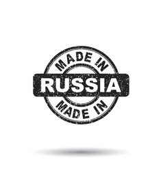 made in russia stamp on white background vector image