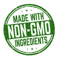 made with non-gmo ingredients sign or stamp vector image