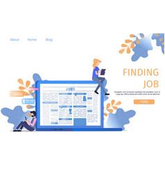 Man character fill cv profile form finding job vector