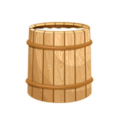 milk wooden barrel isolated icon vector image