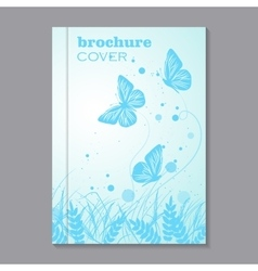 Natural brochure cover design vector image