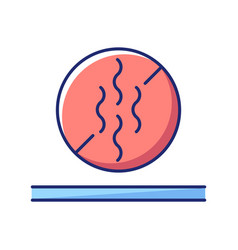 Odor resistant textile feature flat color icon vector