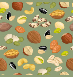 pattern with nuts vector image