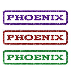 Phoenix watermark stamp vector