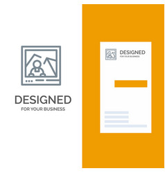 Picture image landmark photo grey logo design and vector