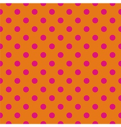 Pink polka dots tile wallpaper background vector
