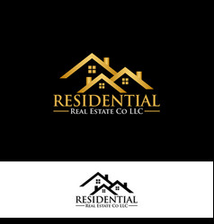 real estate residential logo icon graphic design vector image