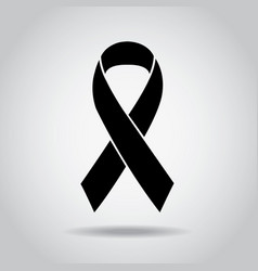 Ribbon black awareness melanoma sign symbol vector