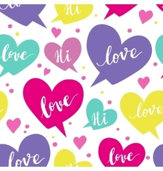 Romantic concept seamless pattern with colorful vector image